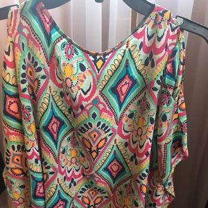 Lilly Pulitzer Cold Should Silk Blouse